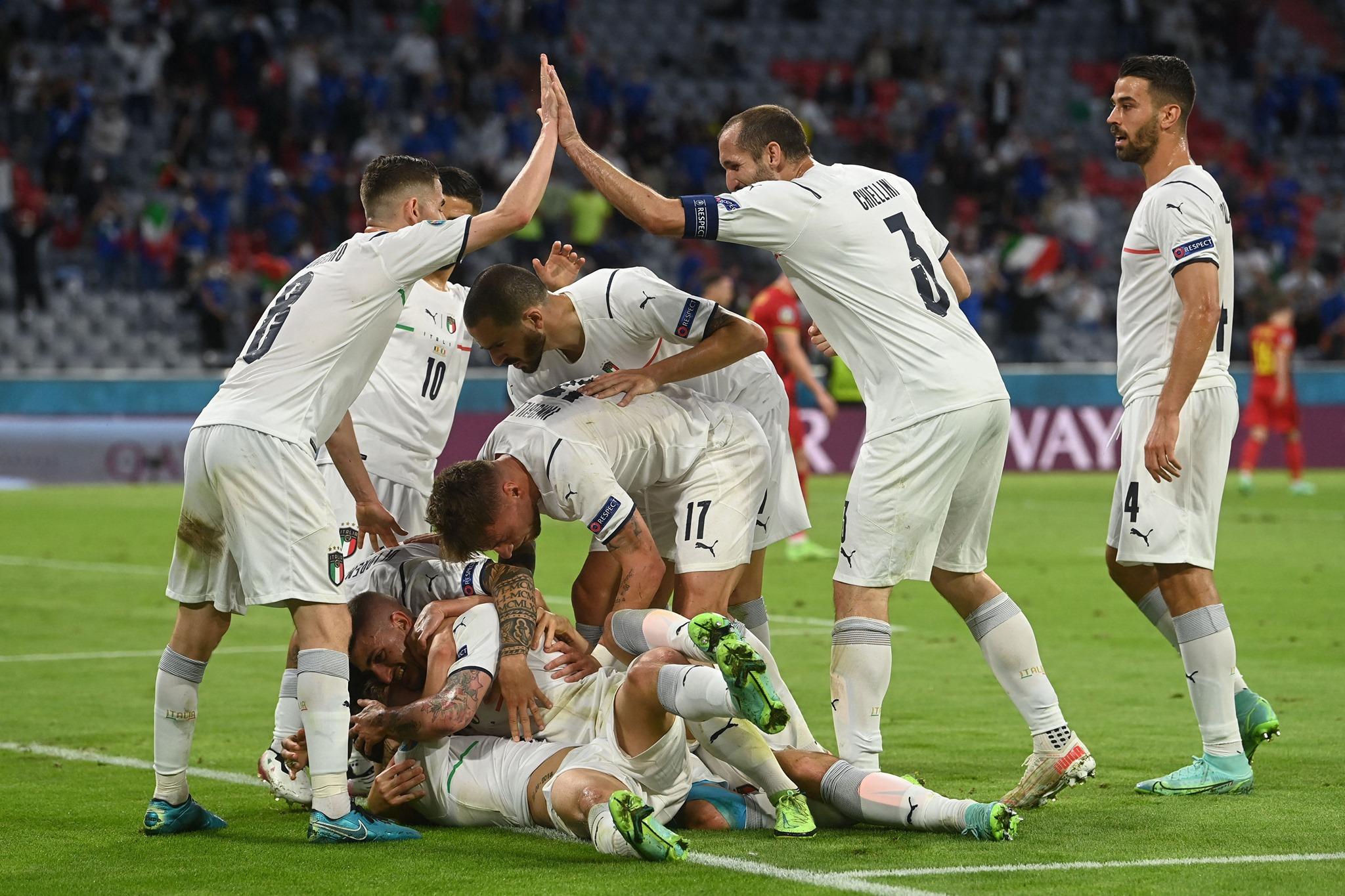 歐洲杯-義大利踢贏比利時晉級4強Pedri-SPORT598體育新聞6632